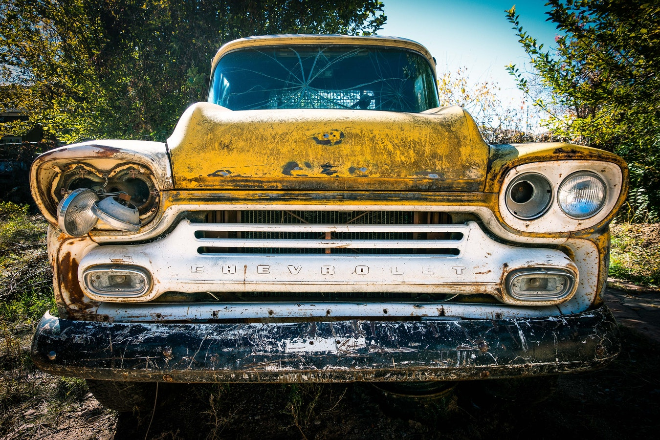 picture of a rust free chevy pickup truck