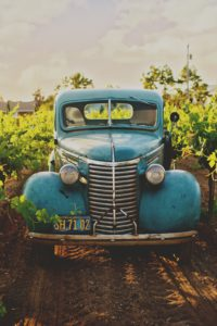 Picture of a 50's rust free classic southwestern pickup truck